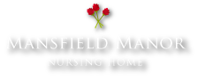 A logo for Mansfield Manor
